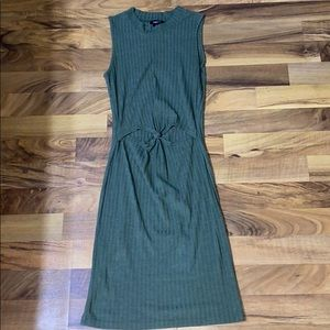 Olive cut out dress